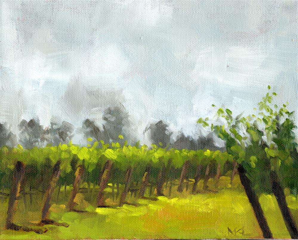"""Hazy Day in the Vineyards"" original fine art by Marlene Lee"
