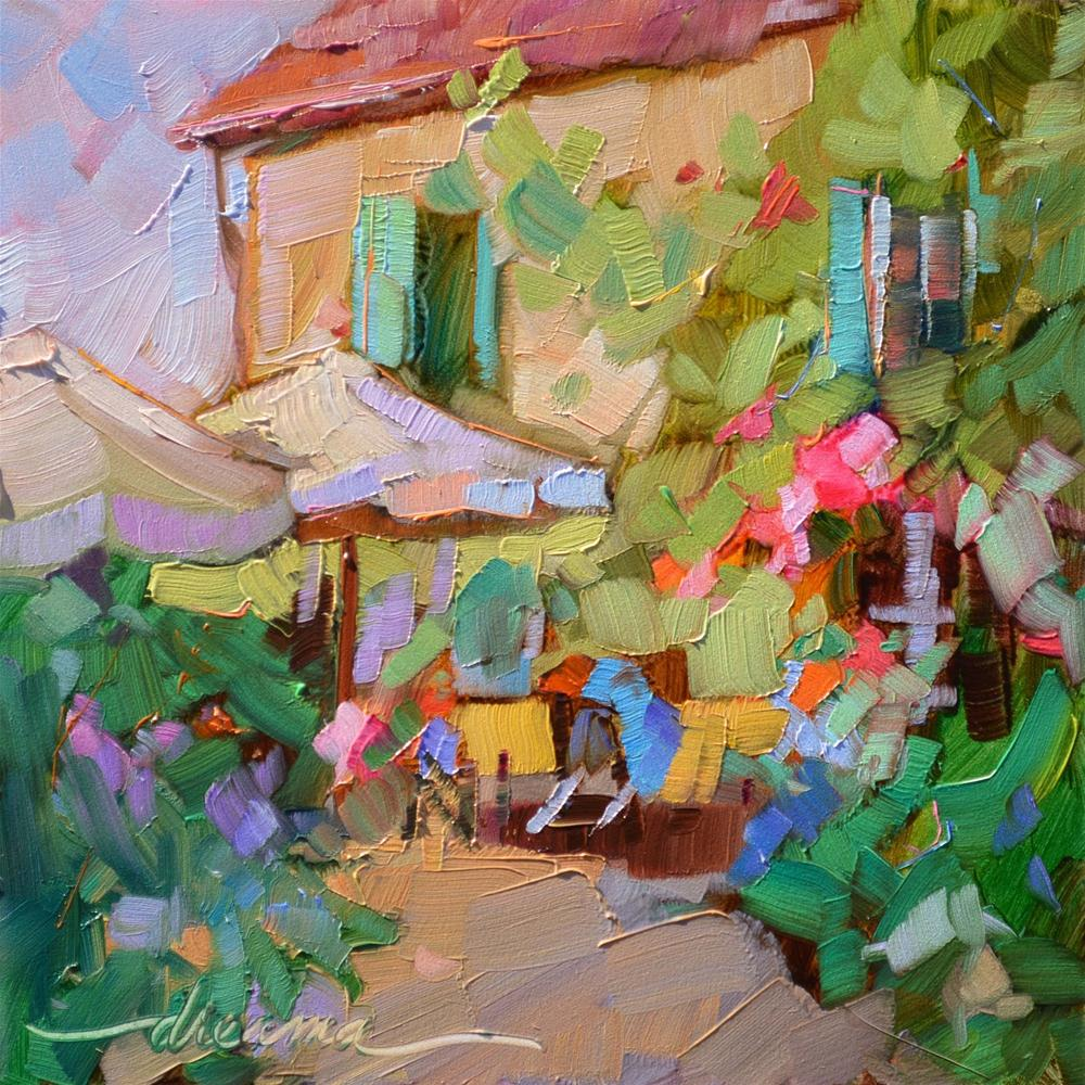 """Ooh La La (A Little Bit of France)"" original fine art by Dreama Tolle Perry"