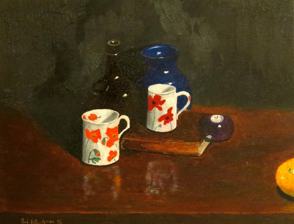"""""""Two Cups of Poppies"""" original fine art by Bob Blackmon"""