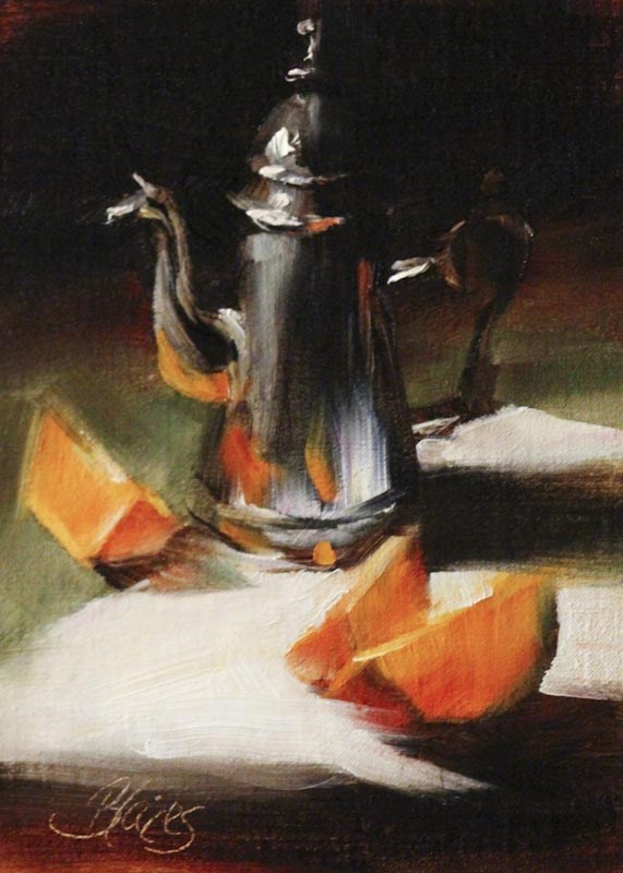 """Single Serve"" original fine art by Pamela Blaies"