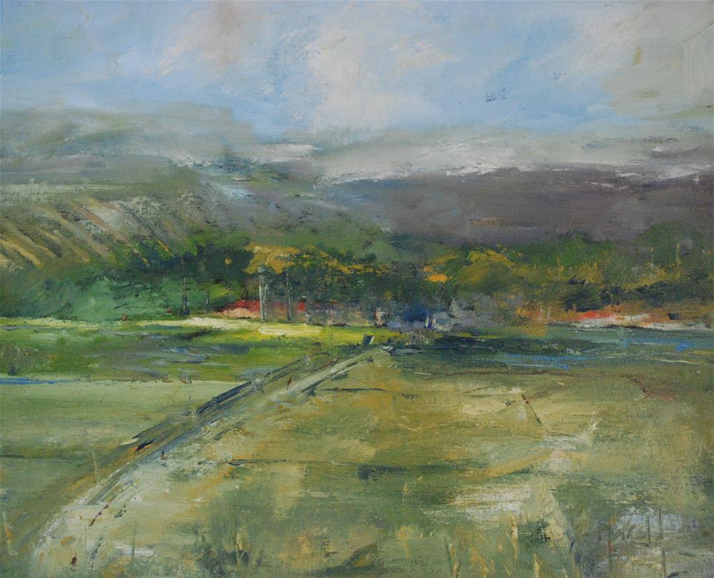 """""""County Line"""" original fine art by Deborah Harold"""
