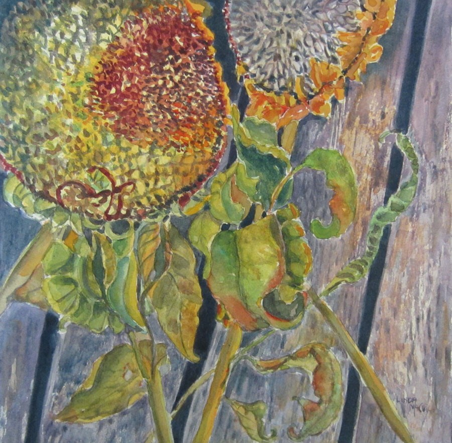 """""""Benched"""" original fine art by Linda McCoy"""