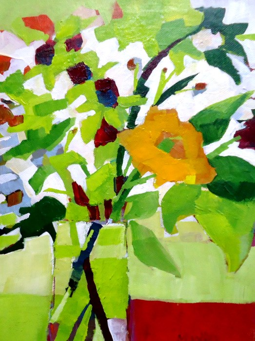 """""""Bloom Where You're Planted"""" original fine art by Laurie Mueller"""