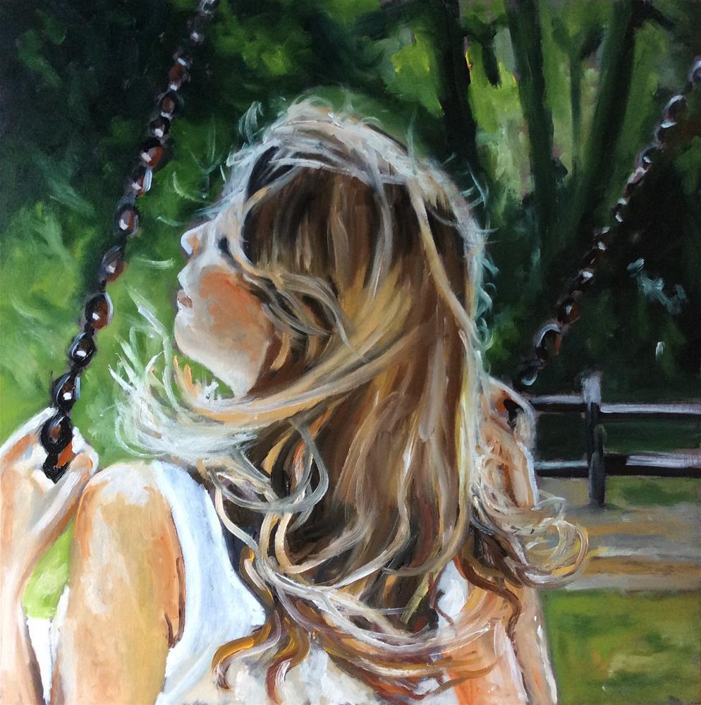 """Against the sunlight"" original fine art by Sonja Neumann"