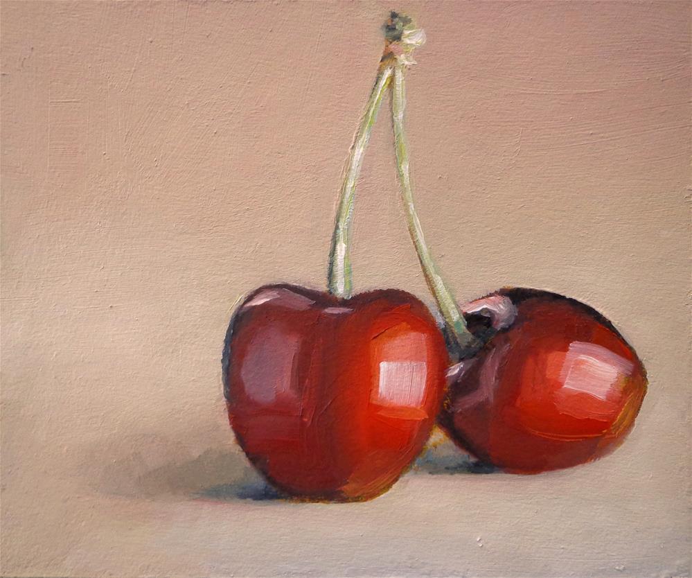 """Two cherries"" original fine art by Maria Z."