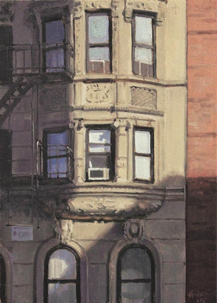 """East Village Windows"" original fine art by Ski Holm"