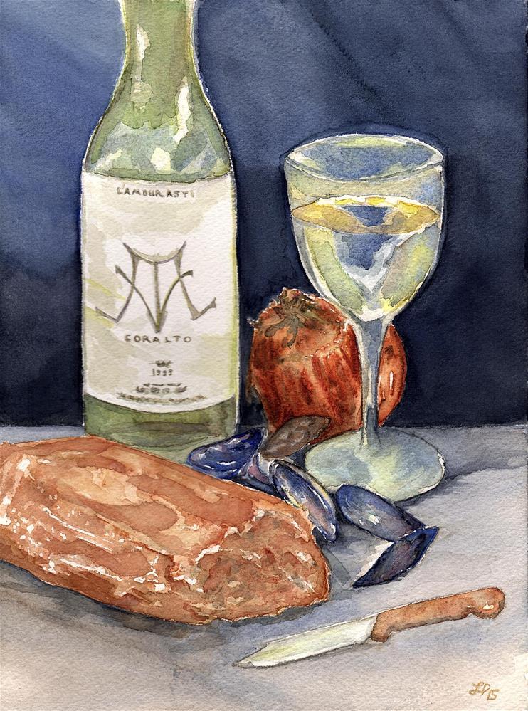 """Flemish Feast"" original fine art by Laura Denning"