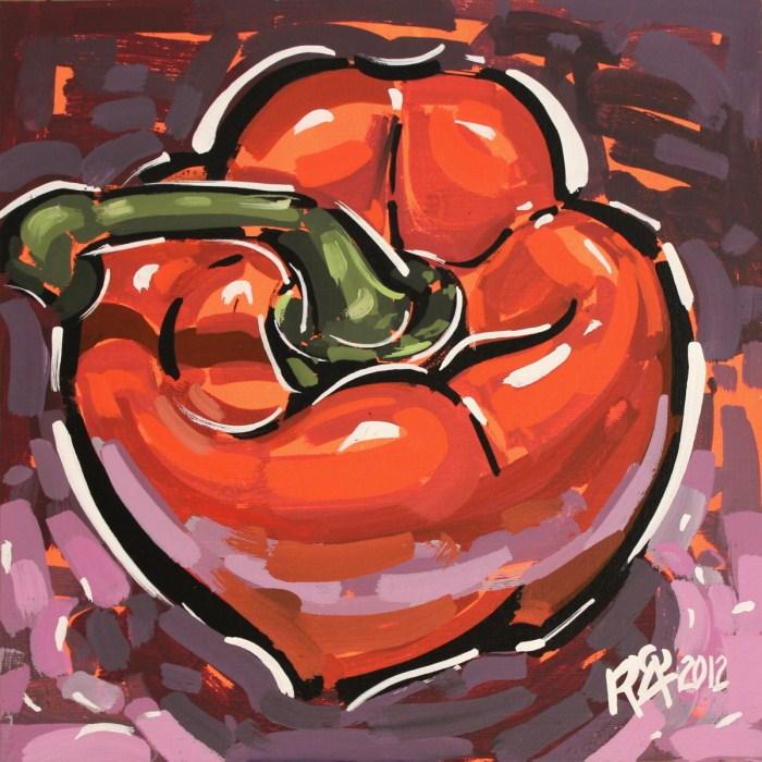 """""""Bell pepper 1"""" original fine art by Roger Akesson"""