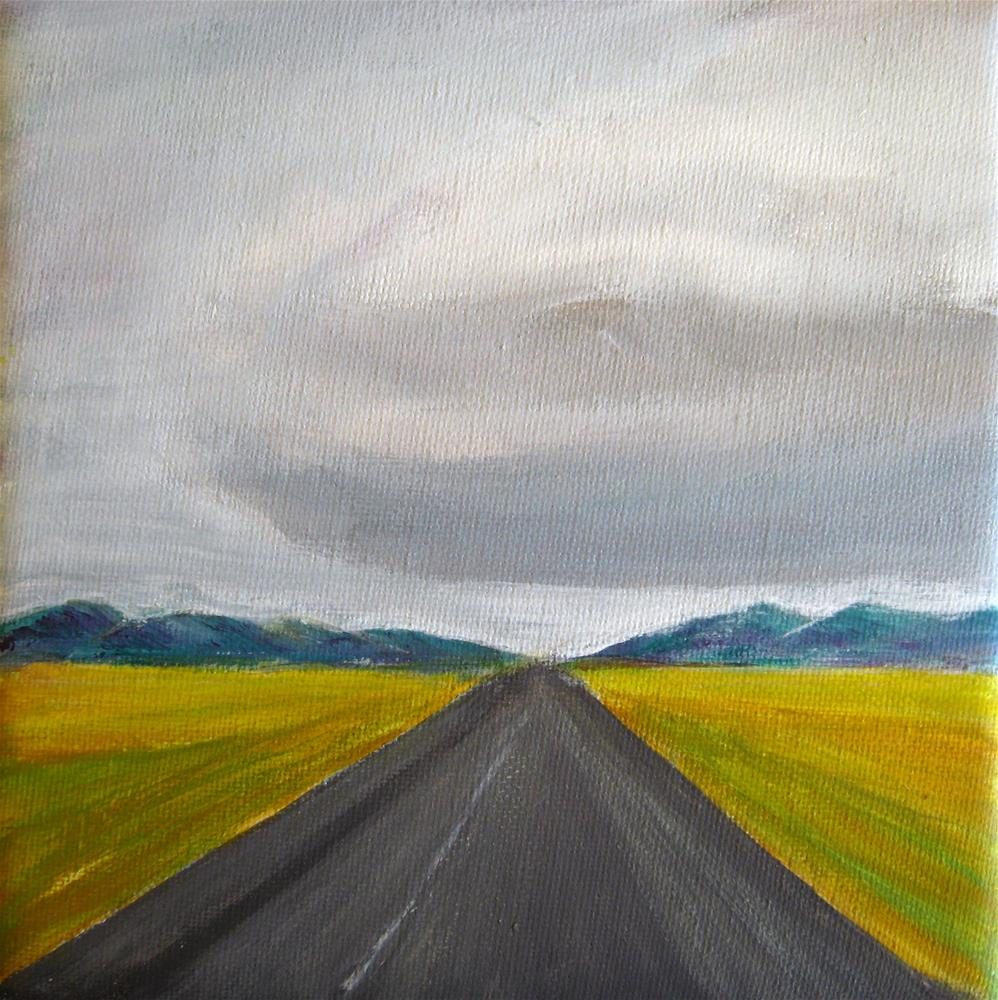 """On The Road"" original fine art by Alina Frent"