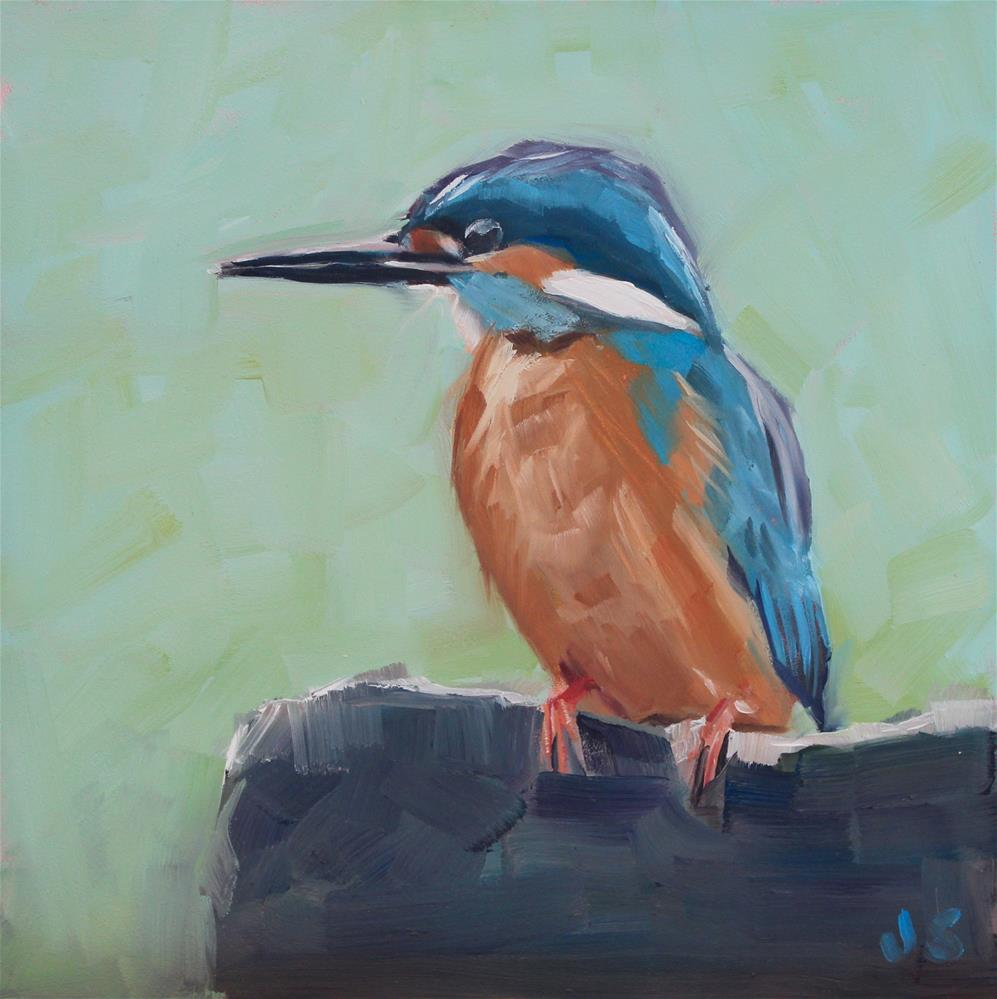 """Perching"" original fine art by Jamie Stevens"