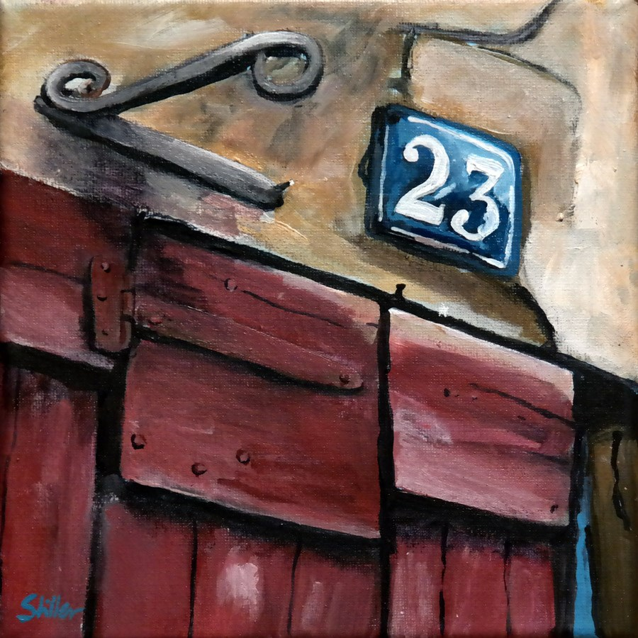 """1626 Number 23"" original fine art by Dietmar Stiller"