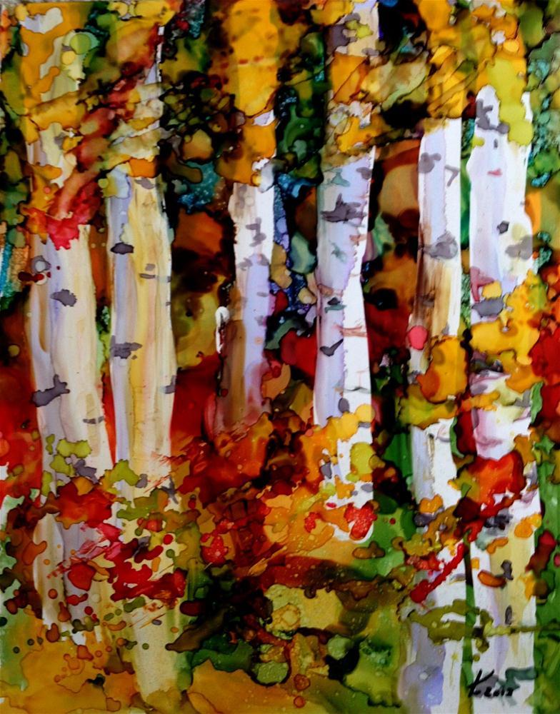 """""""Birches challenge 3"""" original fine art by Kristen Dukat"""