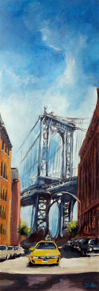 """1904 Manhattan Bridge"" original fine art by Dietmar Stiller"