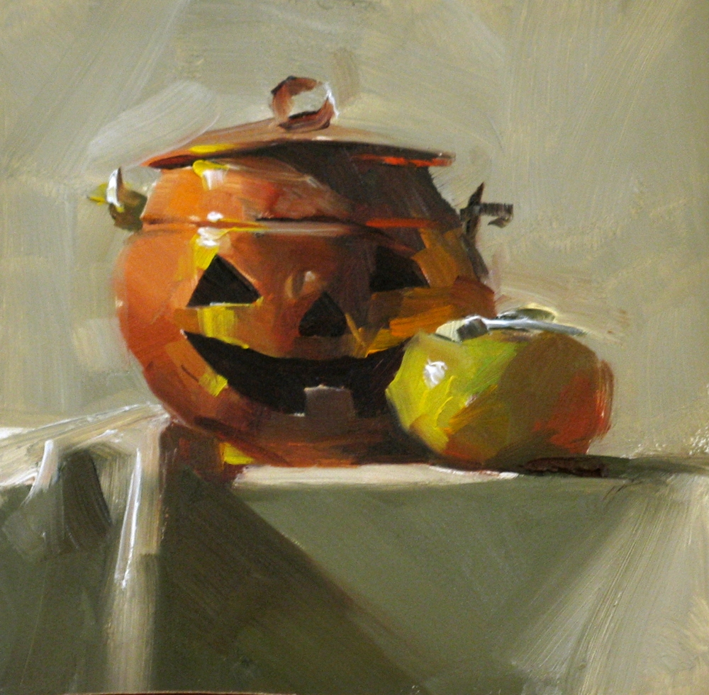 """""""Happy Ghost"""" original fine art by Qiang Huang"""