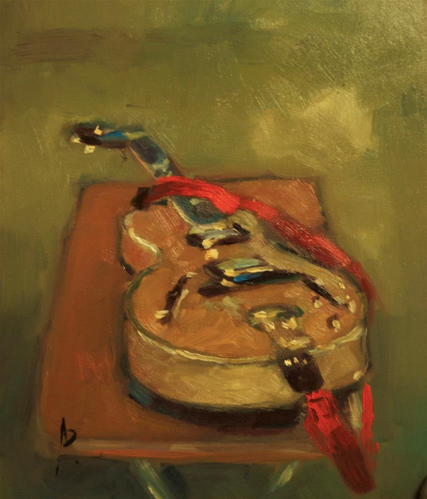 """""""Epiphone (Joe Pass Model)"""" original fine art by Andre Pallat"""