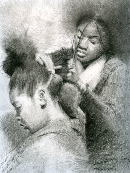 """AFRO XXI"" original fine art by Adebanji Alade"