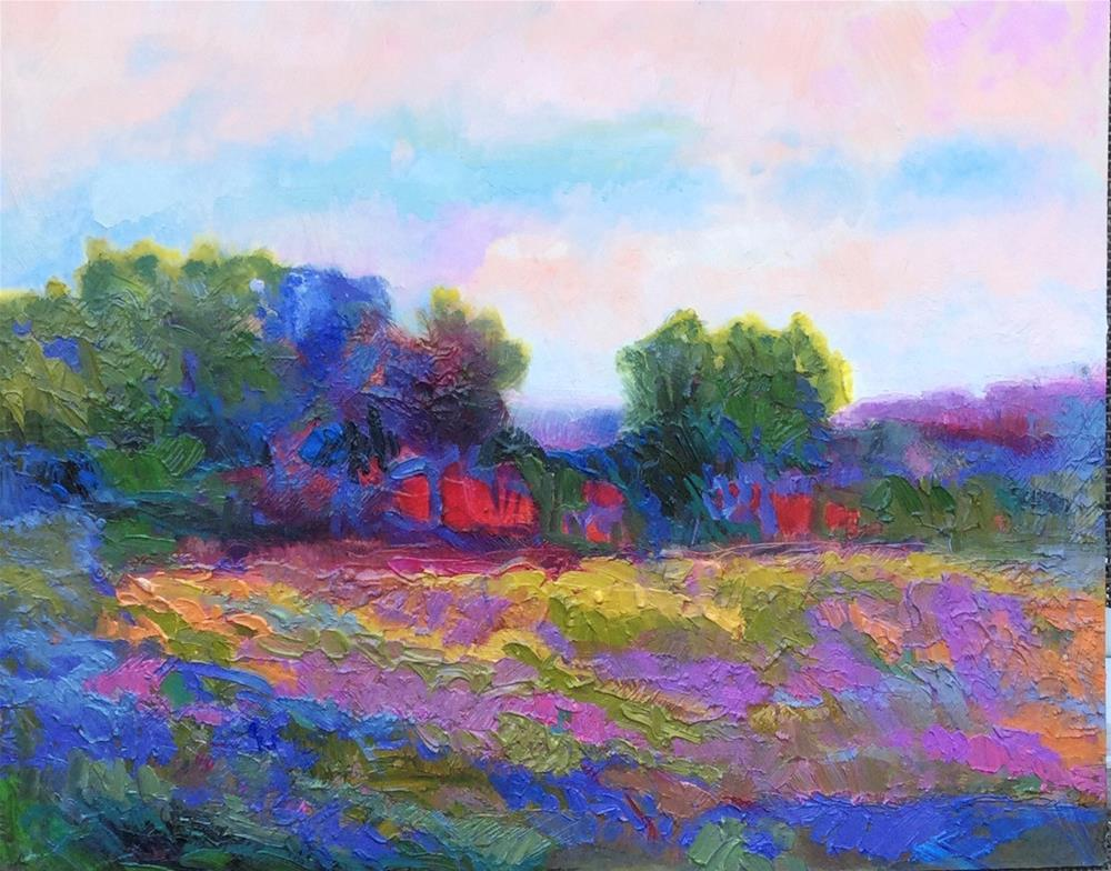 """Impasto Landscape"" original fine art by Charlotte Fitzgerald"