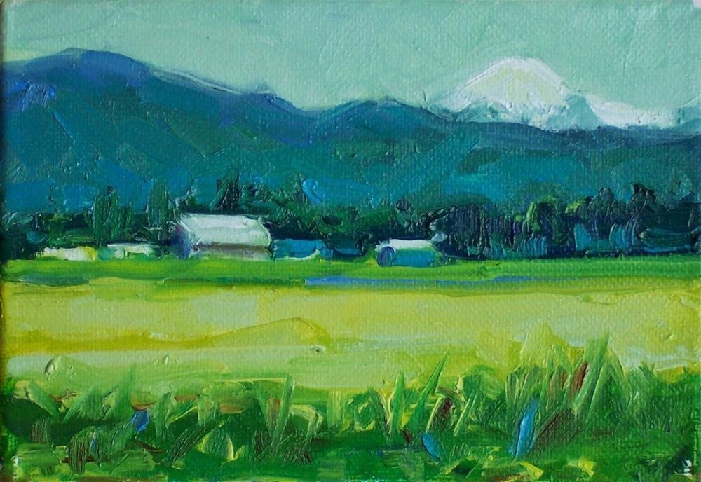 """Analogous Scheme,landscape,oil on canvas,5x7,priceNFS"" original fine art by Joy Olney"