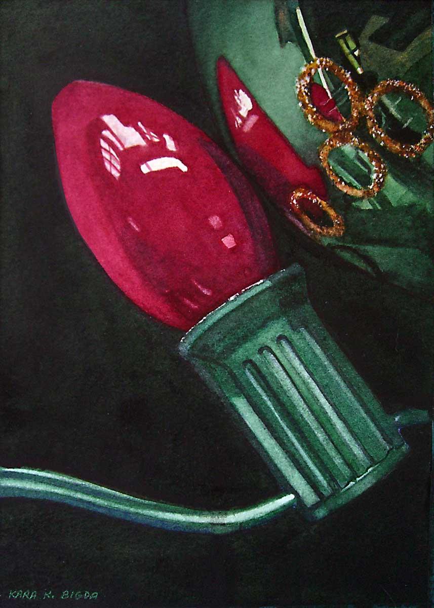 """""""A Retro Bulb"""" original fine art by Kara K. Bigda"""