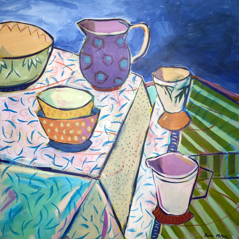 """""""1192: At Table, Revised"""" original fine art by Brian Miller"""