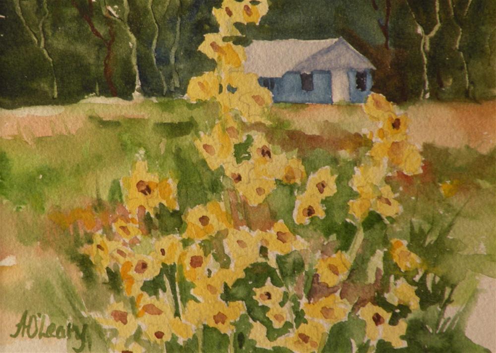 """The Blue Barn"" original fine art by Alice O'Leary"