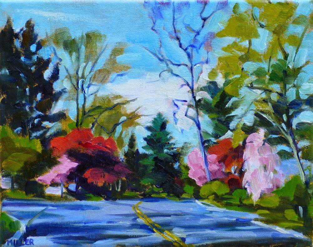 """Morning on Cleveland Drive No. 3"" original fine art by Jessica Miller"
