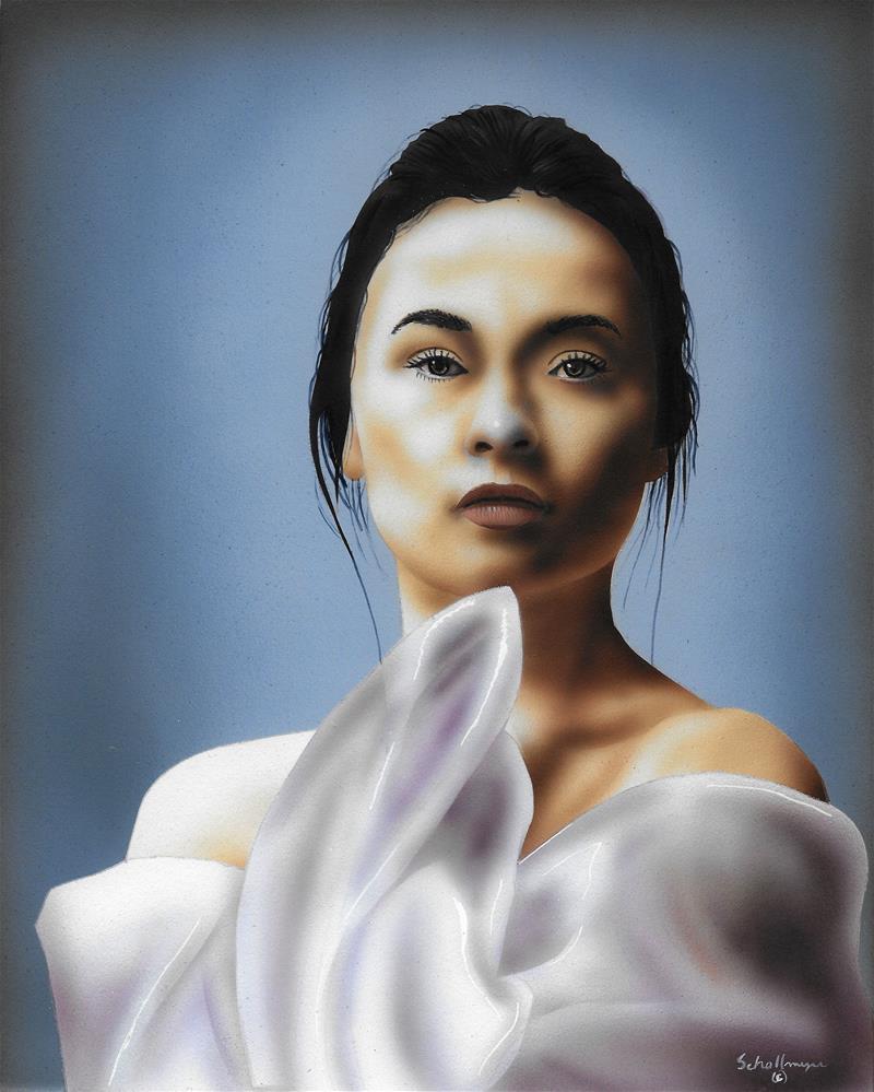 """Woman with Veil"" original fine art by Fred Schollmeyer"