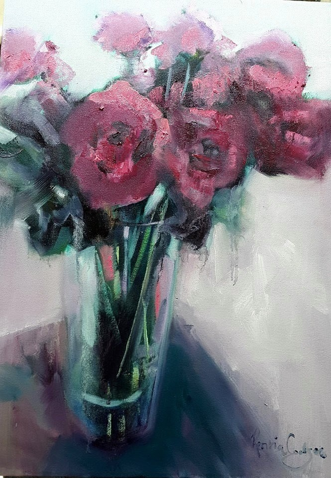 """My red symphony"" original fine art by Rentia Coetzee"