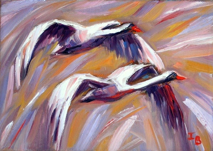"""The Flying Spirit Challenge"" original fine art by Irina Beskina"