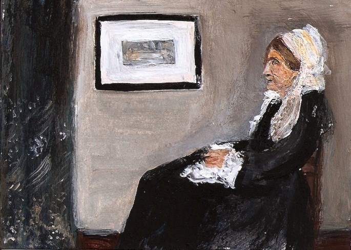 """""""ACEO Whistlers Mother Painting Original SFA Miniature Masters Penny StewArt"""" original fine art by Penny Lee StewArt"""