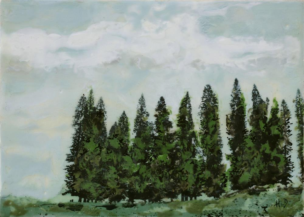 """Pine Fortress"" original fine art by Heather Douglas"