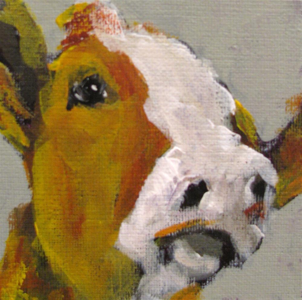 """Cow"" original fine art by Susan Elizabeth Jones"