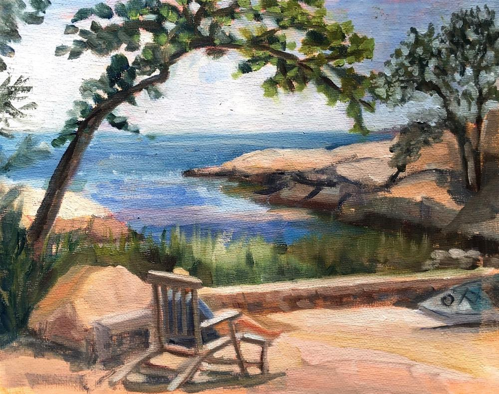 """""""Rest and Relaxation on the Island"""" original fine art by Linda Marino"""