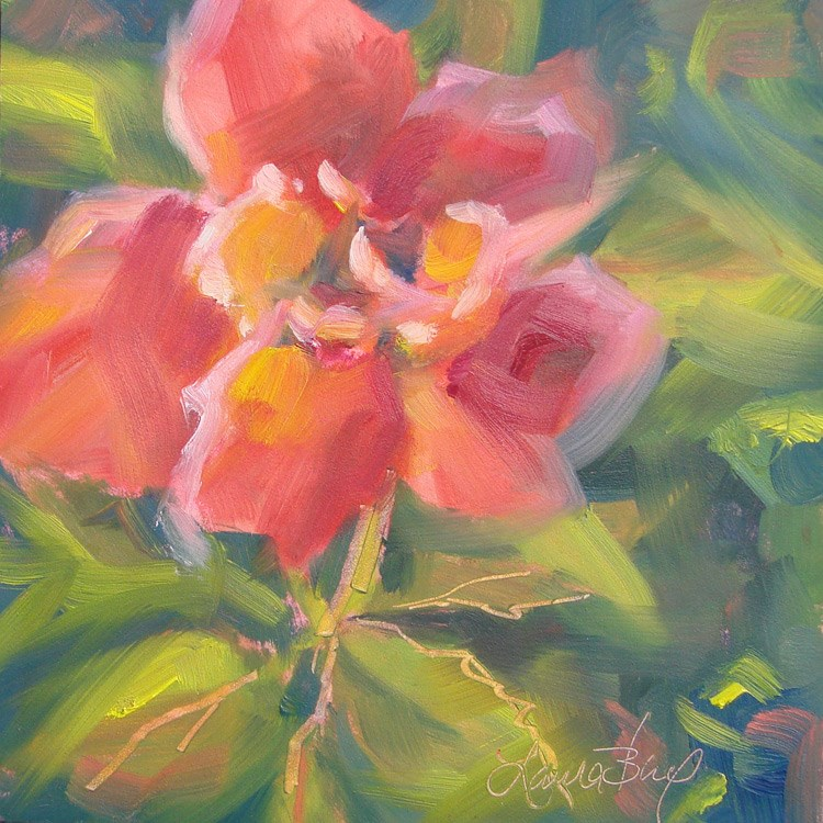 """From My Garden - 408"" original fine art by Laura  Buxo"