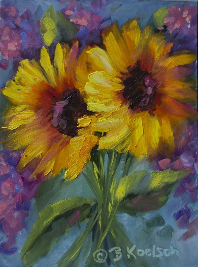 """""""Superlicious Sunflowers"""" original fine art by Bobbie Koelsch"""