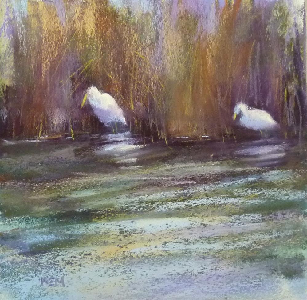 """Painting Inside the Box"" original fine art by Karen Margulis"