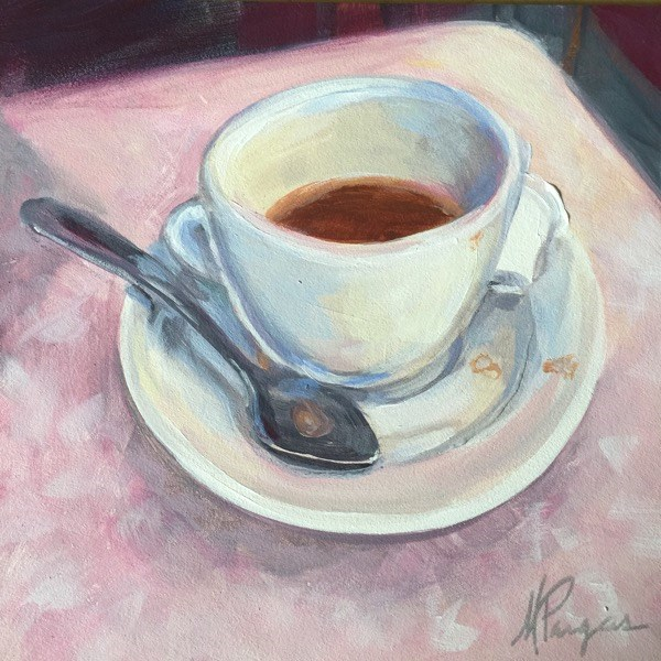 """""""Coffee and Formica"""" original fine art by Mary Pargas"""