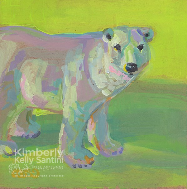 """Lorek Byrnison, Toy #23"" original fine art by Kimberly Santini"