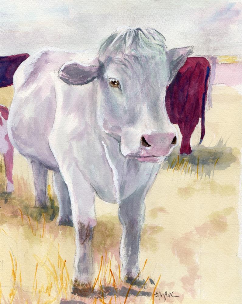 """Cow #2"" original fine art by Bunny Griffeth"