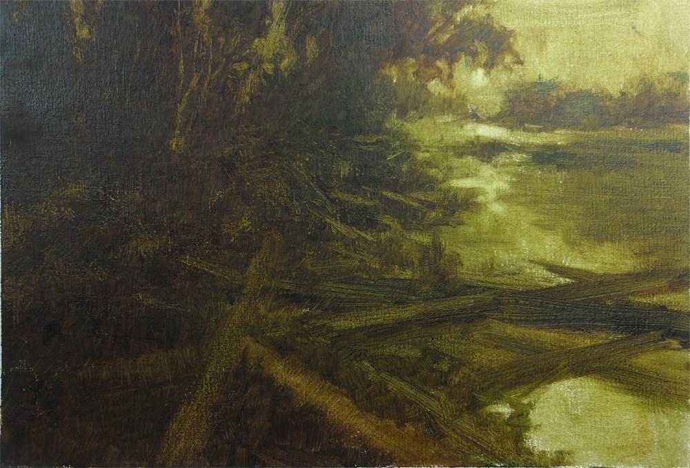 """Moon Landing Marsh"" original fine art by Arena Shawn"