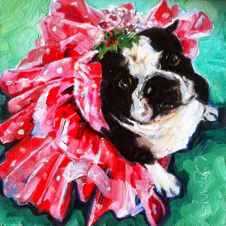 """SPARKLE MORE, BARK LESS"" original fine art by Kristy Tracy"