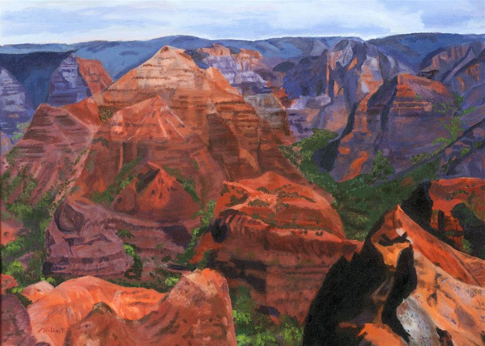 """Waimea Canyon"" original fine art by Lynne Reichhart"