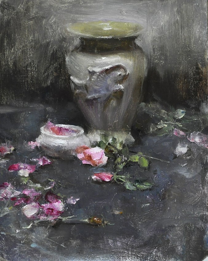 """fish vase"" original fine art by Taisia Kuklina"
