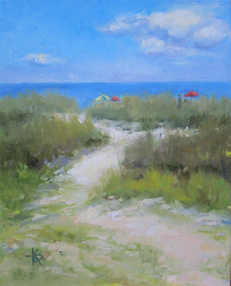 """Slider's View"" original fine art by Kathy Bodamer"