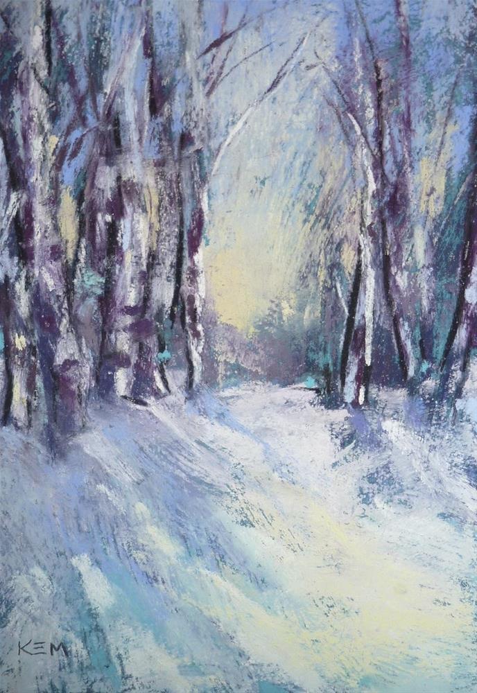 """Winter Pastel Paintings...YouTube Slide Show"" original fine art by Karen Margulis"