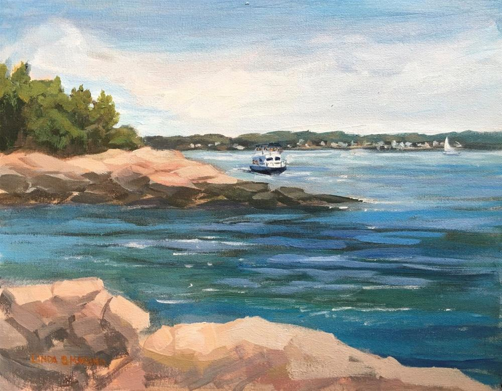 """Touring the Islands, Thimble Islands, Branford, CT"" original fine art by Linda Marino"