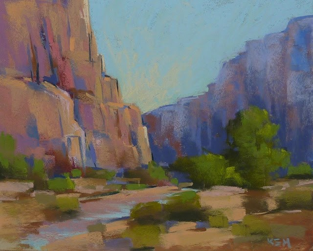 """Zion National Park - How to Change Up Your Color Palette"" original fine art by Karen Margulis"