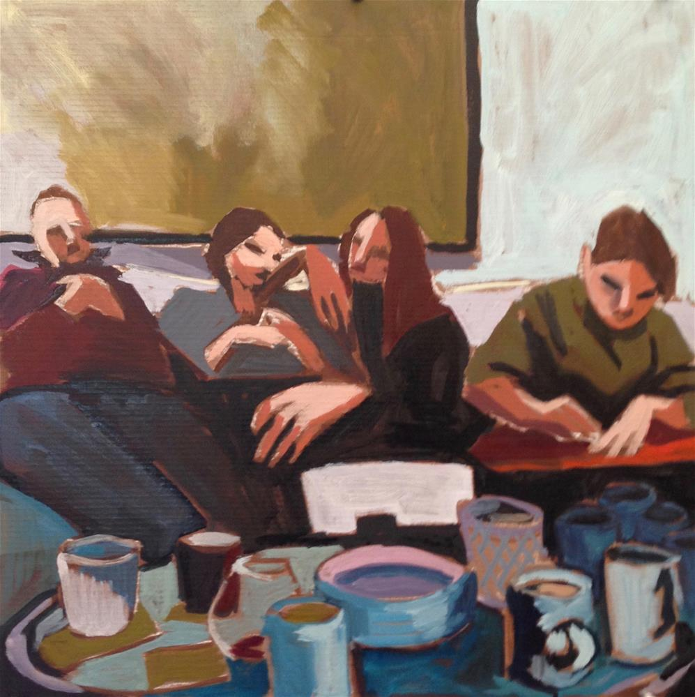 """""""Family Sandwich"""" original fine art by Pamela Hoffmeister"""