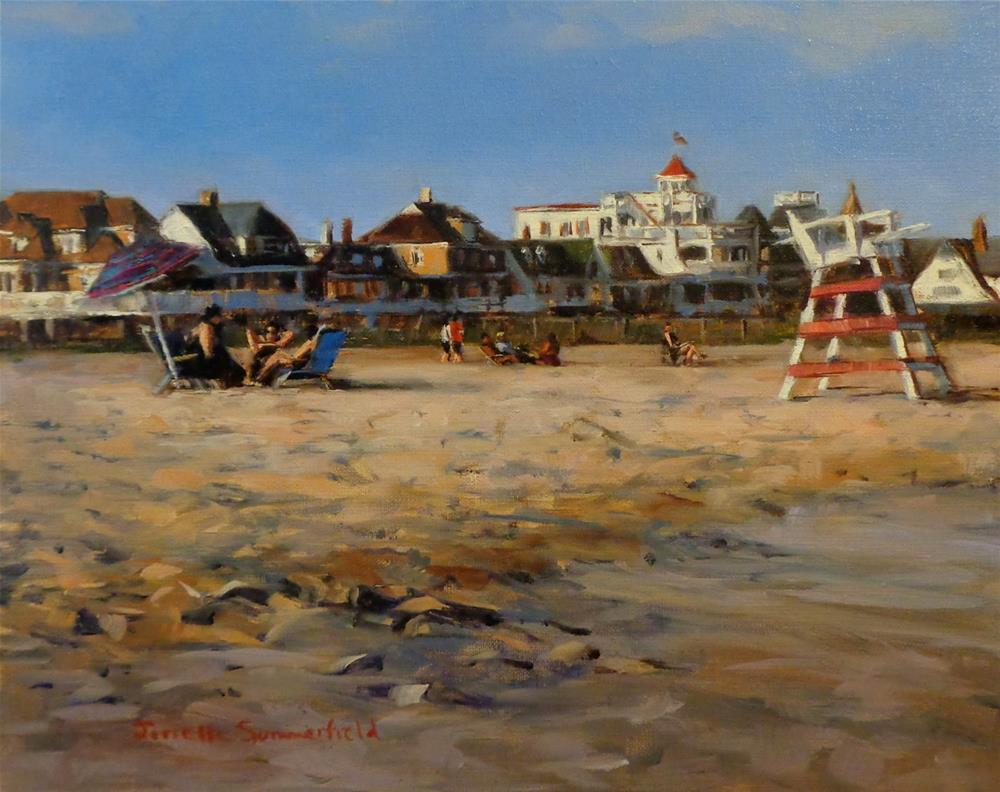 """""""Cape May Beach III"""" original fine art by Jonelle Summerfield"""