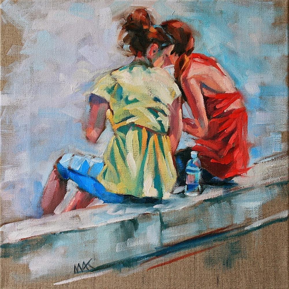"""Secrets"" original fine art by Mary Anne Cary"